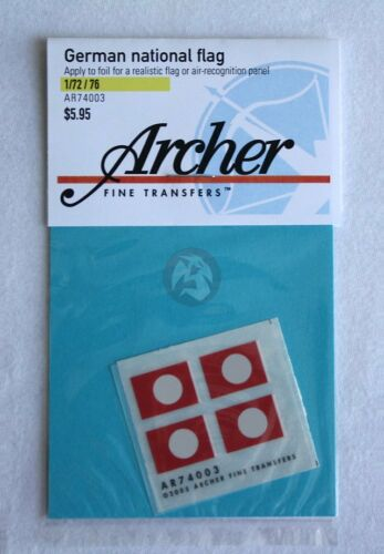 Archer 1//72-1//76 Nationalflagge German National Flag 1933-1945 WWII AR74003