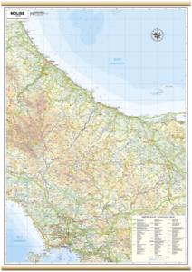 Cartina Molise Geografica.Carta Geografica Murale Regione Molise 61 X 88 Cm Belletti Cartina Ebay