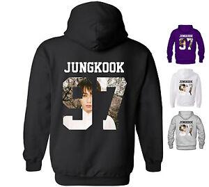 Bts Inspiré Sweat à Capuche Jungkook 97 Bangtan Boys Coréen De K-pop Jeon-afficher Le Titre D'origine