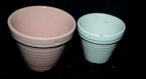Vintage Lot 2 Pfaltzgraff Glazed Pottery Plant Pots Planters