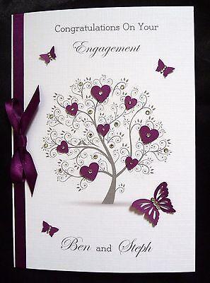 2519 Personalised Handmade Wedding Engagement Anniversary Card  Lovebirds