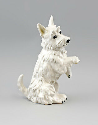 Antiques Decorative Arts Steady 9941616 Ens Porcelain Figurine Terrier Seated Bright Dog 14x9x24cm