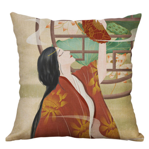 Chinese Style Cotto Linen Pillow Case Cover Throw Sofa Cushion Cover Home Decor