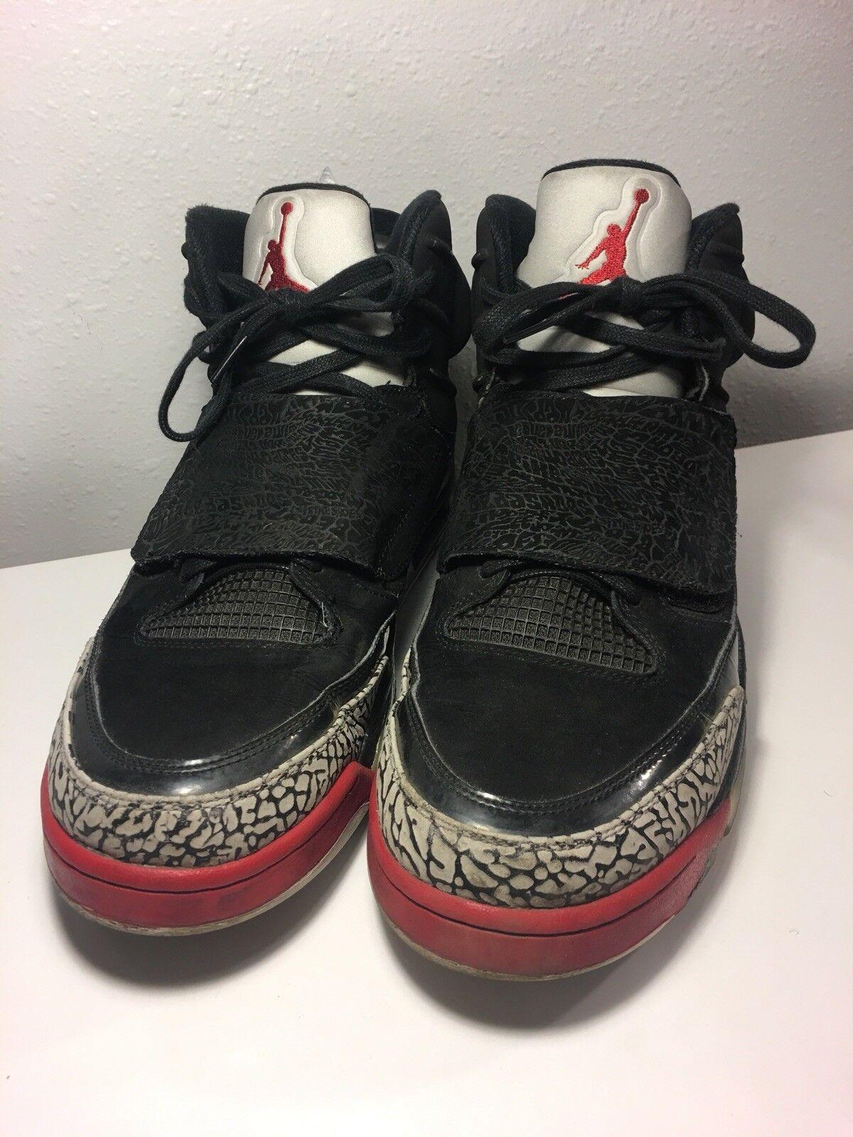 Nike air jordan, figlio di marte rosso fuoco rosso numero 13 512245-001 cemento grigio