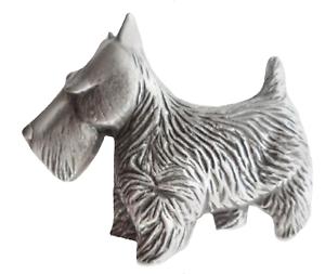 Scottie Dog Scotland Terrier Pewter Pin Badge