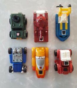 Transformers G1 MINI VEHICLE Car Lot Warpath, Swerve, Wheelie, Brawn, Seaspray 6