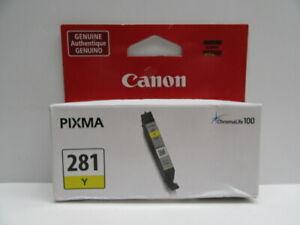 Canon-Pixma-CLI-281-y-D-039-ENCRE-JAUNE-AUTHENTIQUE-Original-Equipment-Manufacturer-Neuf-Scelle