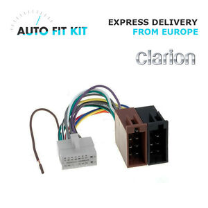 details about clarion 16 pin iso wiring harness loom adaptor wire radio connector lead  clarion 16 pin car stereo radio wiring wire harness ebay #8