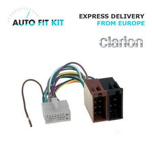 clarion 16 pin iso wiring harness loom adaptor wire radio image is loading clarion 16 pin iso wiring harness loom adaptor