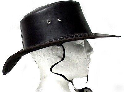 Genuine Cowhide Leather Western Cowboy Hat Brown # 2695 USD