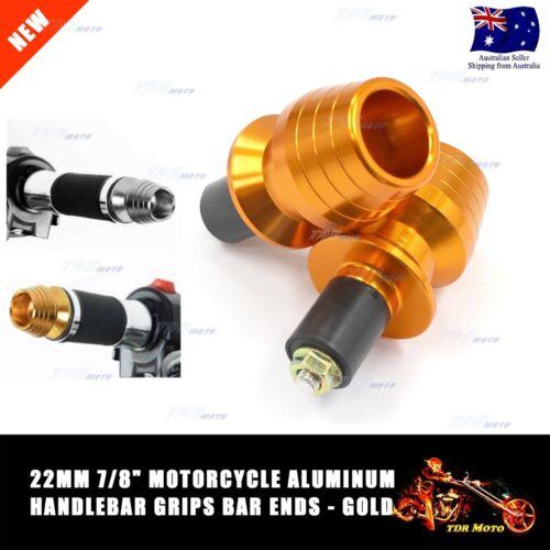"""GOLD Motorcycle Anti Vibration Handle Bar End Plug Grip Ends Caps 22mm 7//8/"""" AU"""