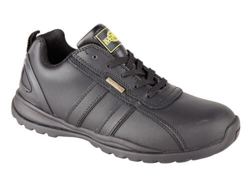 Mens Holman Safety Steel Toecap Lightweight Lace up Work Shoe Trainer Black  8