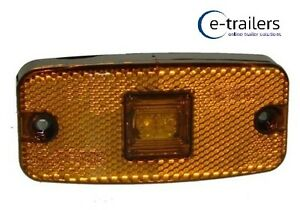 Lamp Ifor Williams Rubbolite Side Marker Light Maypole, Amber Trailer