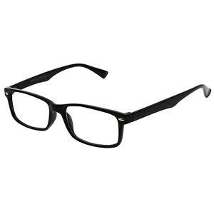 f0ce84e7c68 Image is loading Black-Interview-Smart-Looks-nerd-Fashion-Rectangular-Clear-