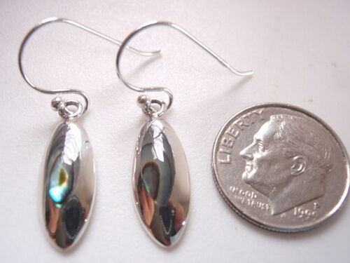 Abalone Marquise Tribal Style 925 Sterling Silver Dangle Boucles d/'oreilles
