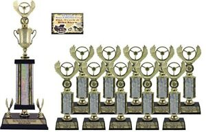 FIRST TIME CAR SHOW AWARD SMALL TROPHY PACKAGE B TOP CAR SHOW - Car show trophy packages