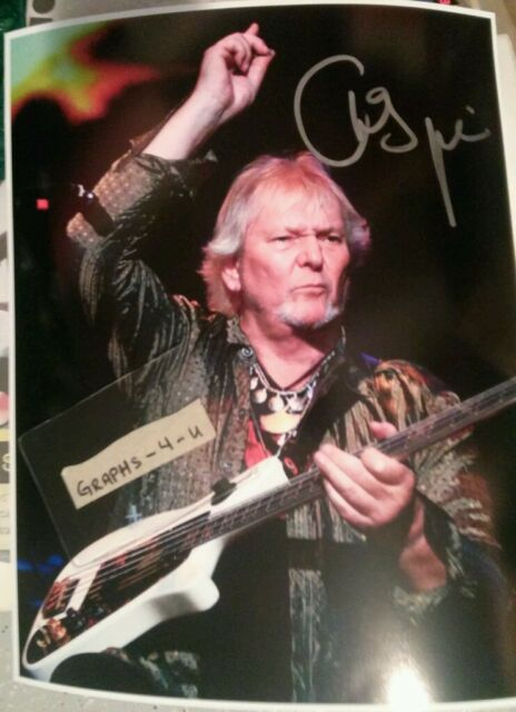 CHRIS SQUIRE SIGNED YES AUTOGRAPH COA 11 x 14