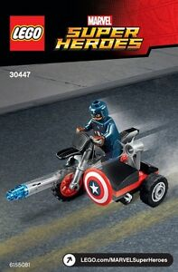 NEW LEGO 30447 Captain American Motorcycle Marvel Civil War