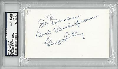Gene Autry Signed Authentic Autographed 3x5 Index Card Slabbed Psa/dna #83739901 Convenient To Cook Autographs-original Cards & Papers