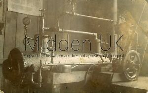 RB180-Early-RP-POSTCARD-Industrial-Edwardian-Mill-Machinery-Air-Compressor