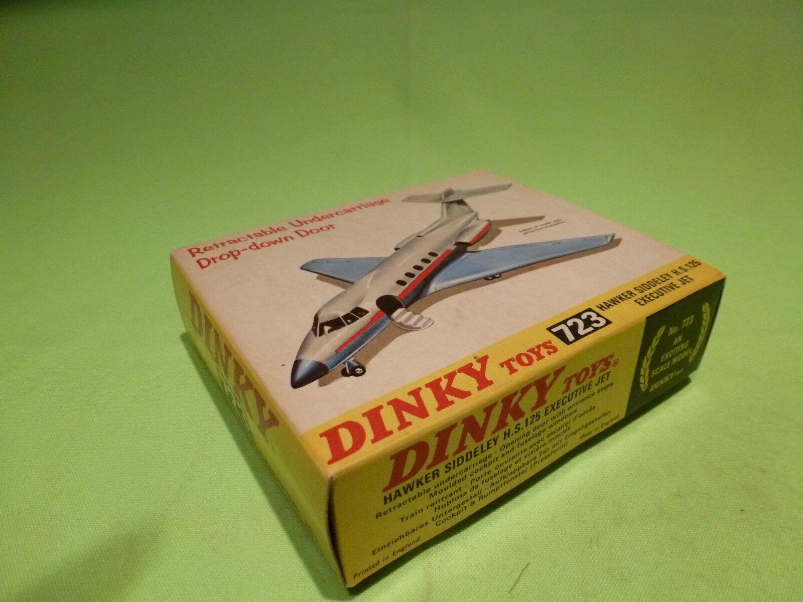 723 hawker siddeley hs dinky spielzeug 125 executive jet - selten selten ( 5 - gut in der box
