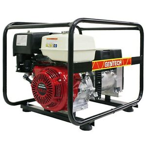 Honda Generator GX390 13HP Petrol Power 7kVA 3 Phase Gentech Quiet Portable 415V