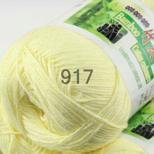 Sale New 1 Skein x 50g Super Soft Bamboo Cotton Baby Hand Knitting Crochet Yarn