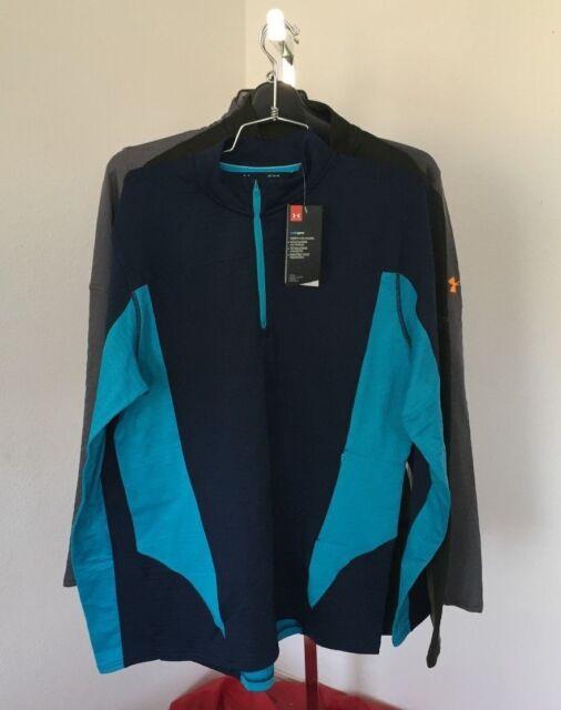 0112c76a59 2018 UA Under Armour Spectra 1/2 Zip Mens L Large Shirt Fleece Layer We59