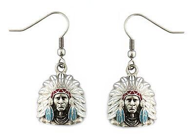 Indian Head Chief Headdress Nickel Size Stainless Steel Navajo Western Native