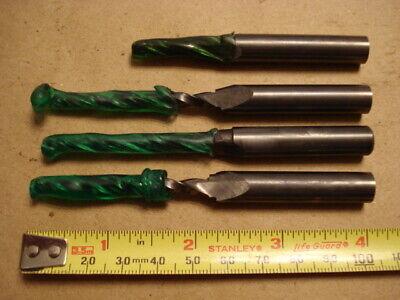 "5//64/"" 4 Flute Single End Med 30 Degree Carbide End Mill USA"