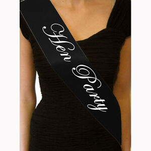 Hen-Night-Sash-Party-Sashes-Do-Accessories-Bride-To-Be-Out-Girl-Deluxe-Bling-New