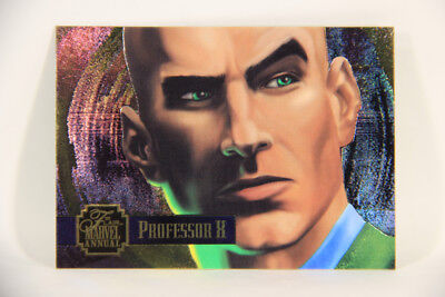 L003572 Marvel 1995 Flair Annual Powerblast Professor X #19 Foil Chase Card Eng Making Things Convenient For Customers Trading Card Singles Collectibles