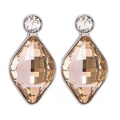 DSE 5087624 Floral Pastel Earrings Swarovski crystal/light silk / rhodium-plated
