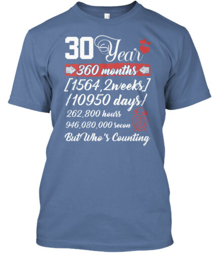 360 Months 1564,2 Hanes Tagless Tee T-Shirt 30 Year Anniversary T 30th Wedding