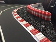 +RAS Reifenstapel XL für Autorennbahnen 1:32 - 1:24 ROT-WEISS-ROT - 99 cm