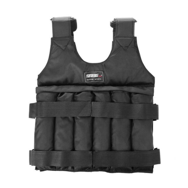 Loading Weighted Vest Adjustable Weight Exercise Waistcoat (1-50KG) #JT1