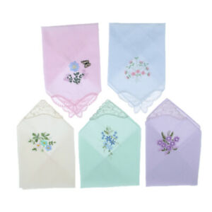 5pcs-set-Womens-Handkerchief-Hankies-Floral-Embroidered-Pocket-Hanky-GIFT