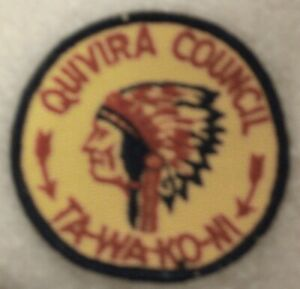 Rare-Vintage-1960-039-s-Boy-Scouts-of-America-Quivira-Council-Ta-Wa-Ko-Ni-Patch