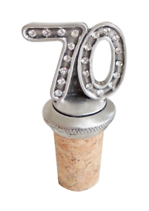 70th Birthday Anniversary Celebration Cork /& Pewter Wine Spirits Bottle Stopper