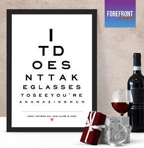 Image Is Loading Personalised Custom Eye Test Chart Gift Home Decor