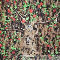 Boneful Fabric Fq Cotton Quilt Brown Tree Face Apple Wizard Of Oz Spooky Dorothy