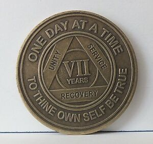 Alcoholic 7 Year Recovery -One Day Chip-Medallion Coin Medal Token AA ...