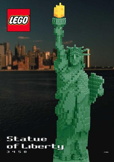 Lego Statue of Liberty 3450 Instruction Only