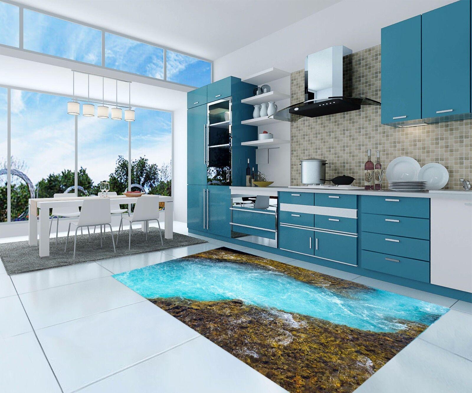 3D River bluee 846 Kitchen Mat Floor Murals Wall Print Wall Deco AJ WALLPAPER UK