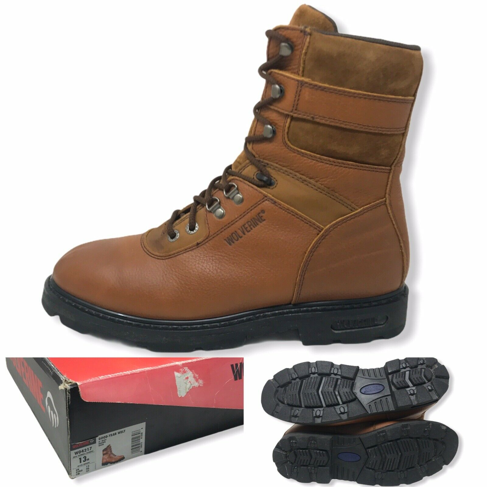 WOLVERINE W04217 Brown Leather Lace-up