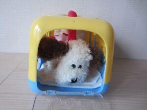 Plüschtier Kuscheltier Hund in Transportbox Kinder Spielzeug