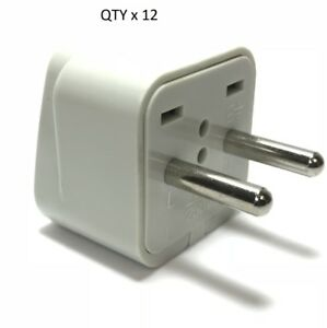 Change US-Plug to Europe//Asia Style Plug Europe Asia 4mm Plug Adapter 12 PK