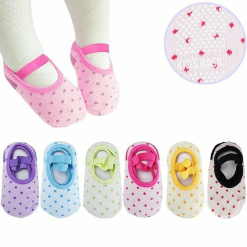 Assorted Color 6Pairs  Baby Anti-skid Socks For 8-36 Months Infants and Toddler