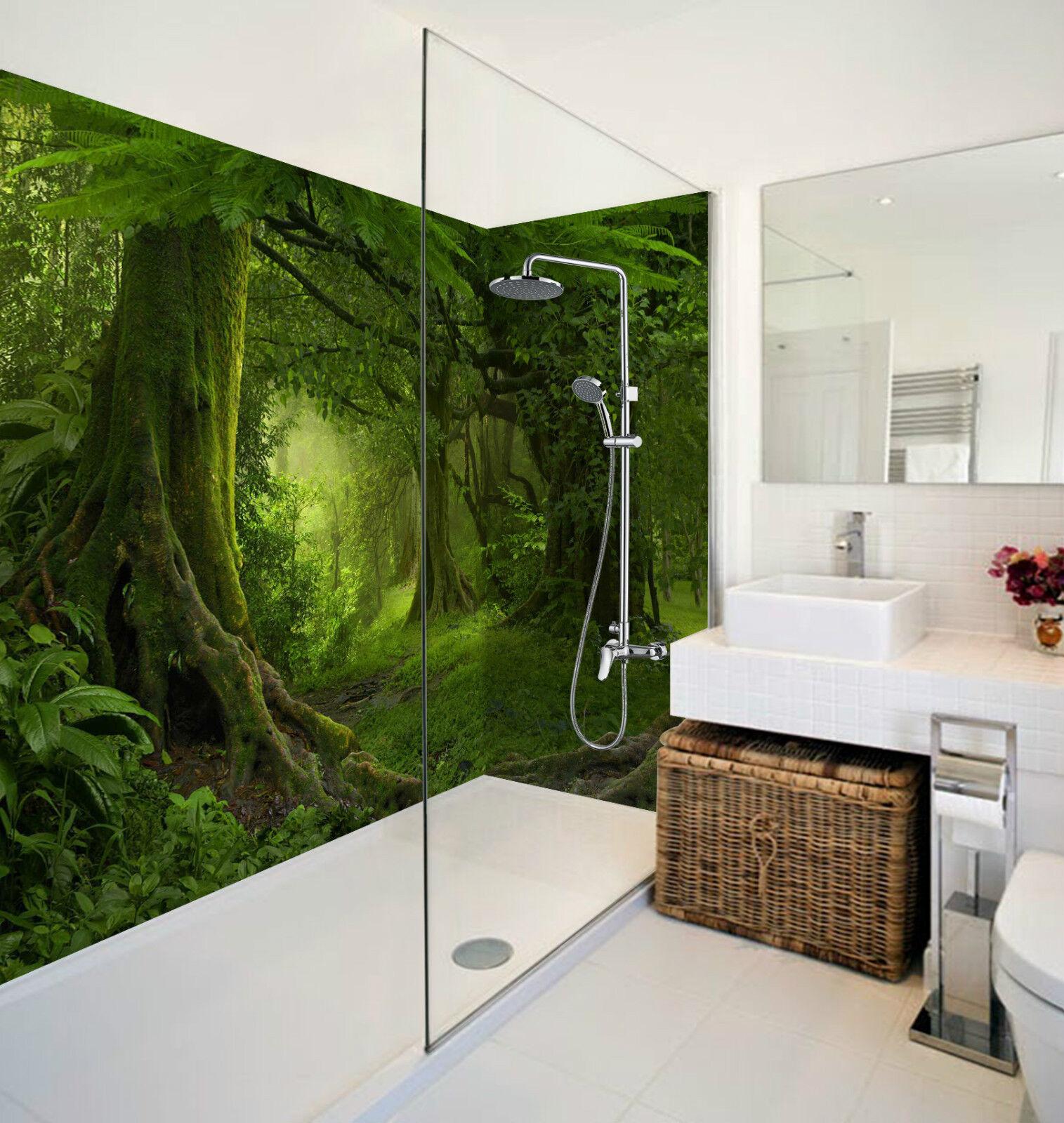 3D Deep Grün Forest 30 WallPaper Bathroom Print Decal Wall Deco AJ WALLPAPER CA