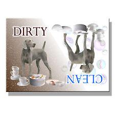 Weimaraner Clean Dirty Dishwasher Magnet New Dog